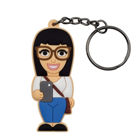 Female Social Media Addict – Keychain