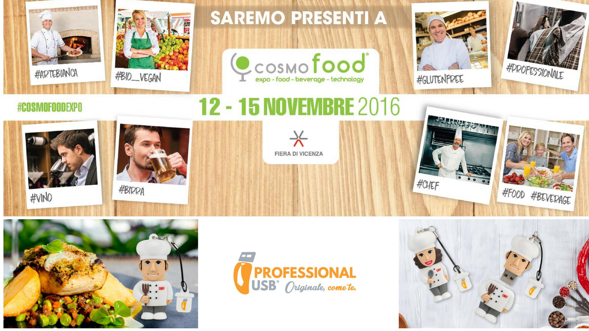 I Cuochi di ProfessionalUsb ti aspettano in Fiera: Cosmofood 2016!
