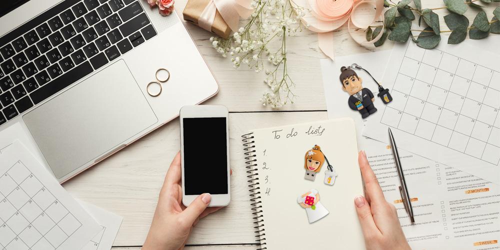Chiavette usb a tema sposi: sì, lo voglio!
