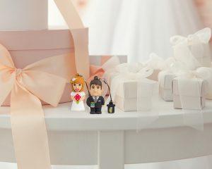 Chiavetta USB a tema matrimonio