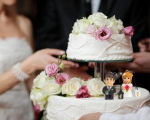 Torta nuziale e chiavette sposo e sposa Profesional Usb®