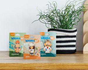 Le confezioni dei nuovi portachiavi WannaBe