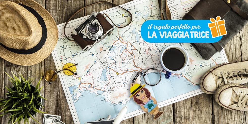 Il portachiavi WannaBe Viaggiatrice